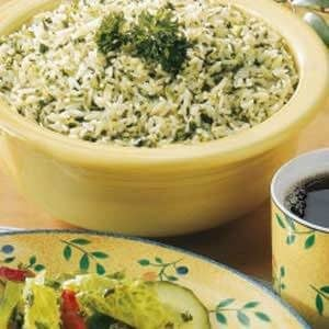 Flavorful Green Rice