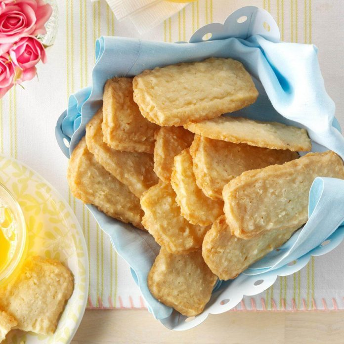 Slice & Bake Coconut Shortbread Cookies