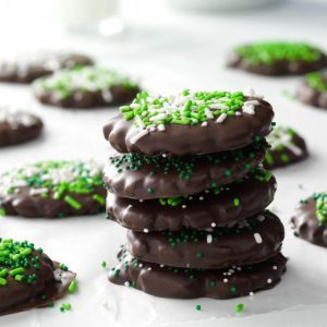 Mint Chocolate-Covered Cookies
