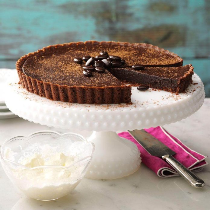 Dark Chocolate Truffle Tart