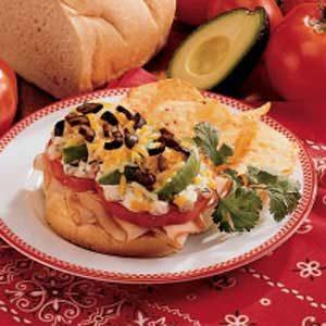 Baked Southwest Sandwiches