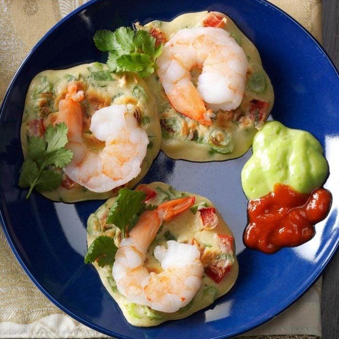 Gewürztraminer: Asian Shrimp Pancakes