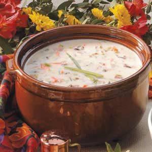 Creamy Wild Rice Soup with Ham