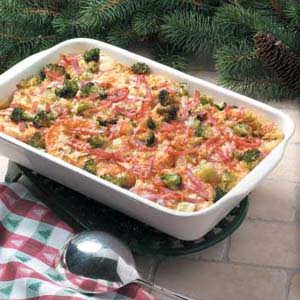 Ham and Broccoli Strata