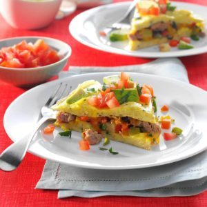 Turkey, Apple & Vegetable Omelet