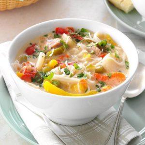 Pork & Rice Noodle Soup