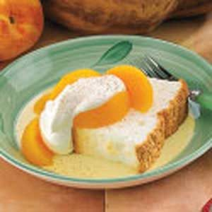 Peach Angel Food Cake