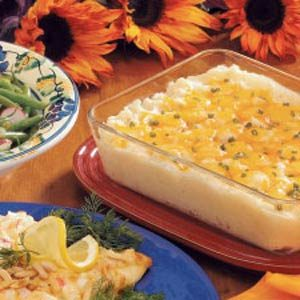 Three-Cheese Potato Bake