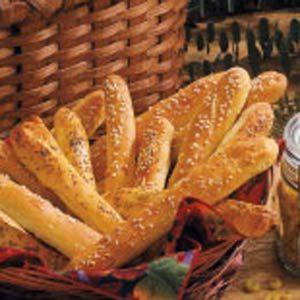 Soft Onion Breadsticks