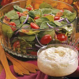 Bacon-Tomato Spinach Salad