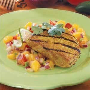 Pork Chops with Mango Relish