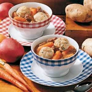 Beef Stew with Potato Dumplings