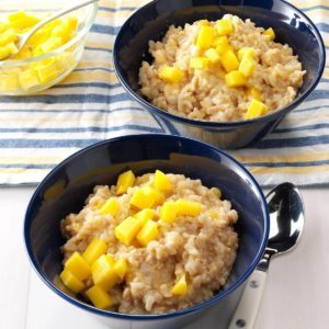 Mango Rice Pudding