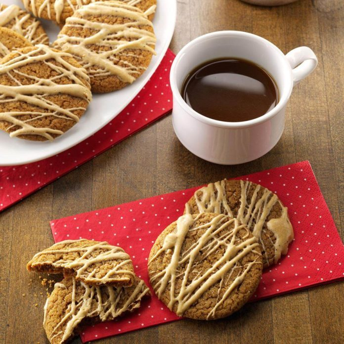 Coffee-Glazed Molasses Cookies