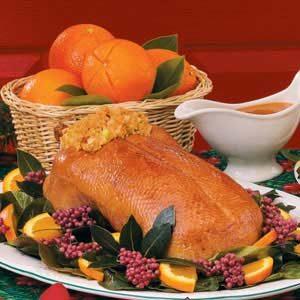 Roast Duck with Orange Glaze