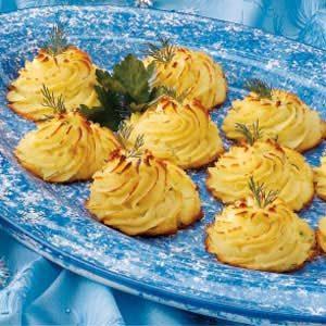 Dilled Duchess Potatoes