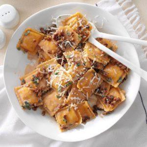 Sage-Pecan Butternut Squash Ravioli