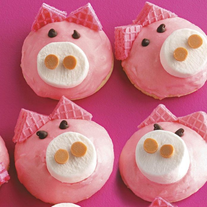 Cute Pig Cookies