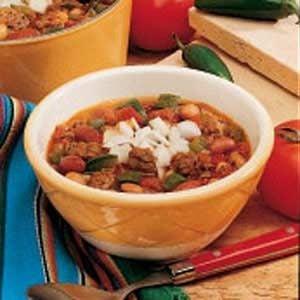 Meaty Three-Bean Chili