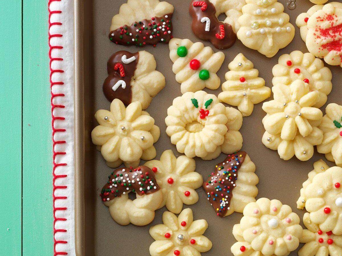 Buttery Spritz Cookies Recipe | Taste