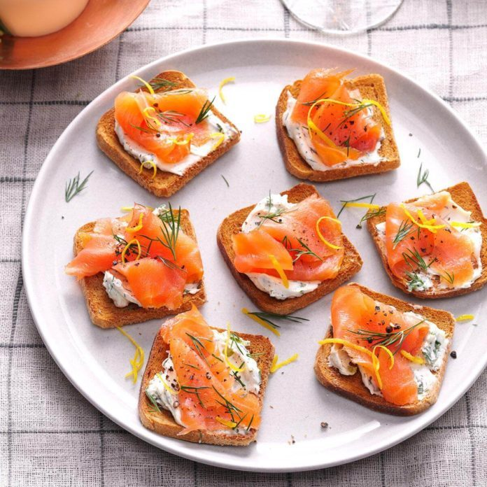 Lemon-Herb Salmon Toasts