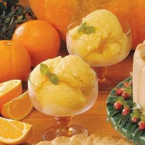 Refreshing Orange Ice