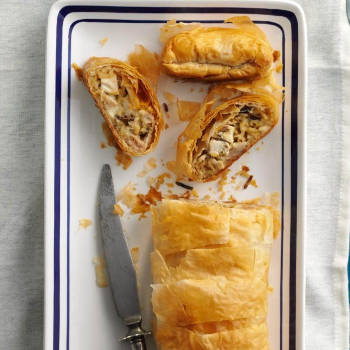 Chicken & Wild Rice Strudels