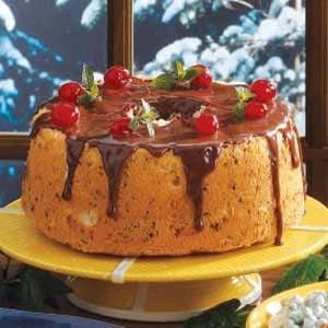 Chocolate Cherry Angel Cake