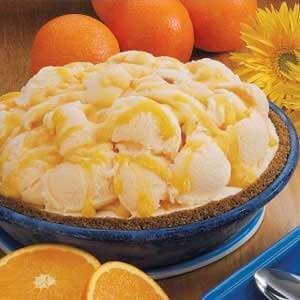 Orange-Swirl Yogurt Pie