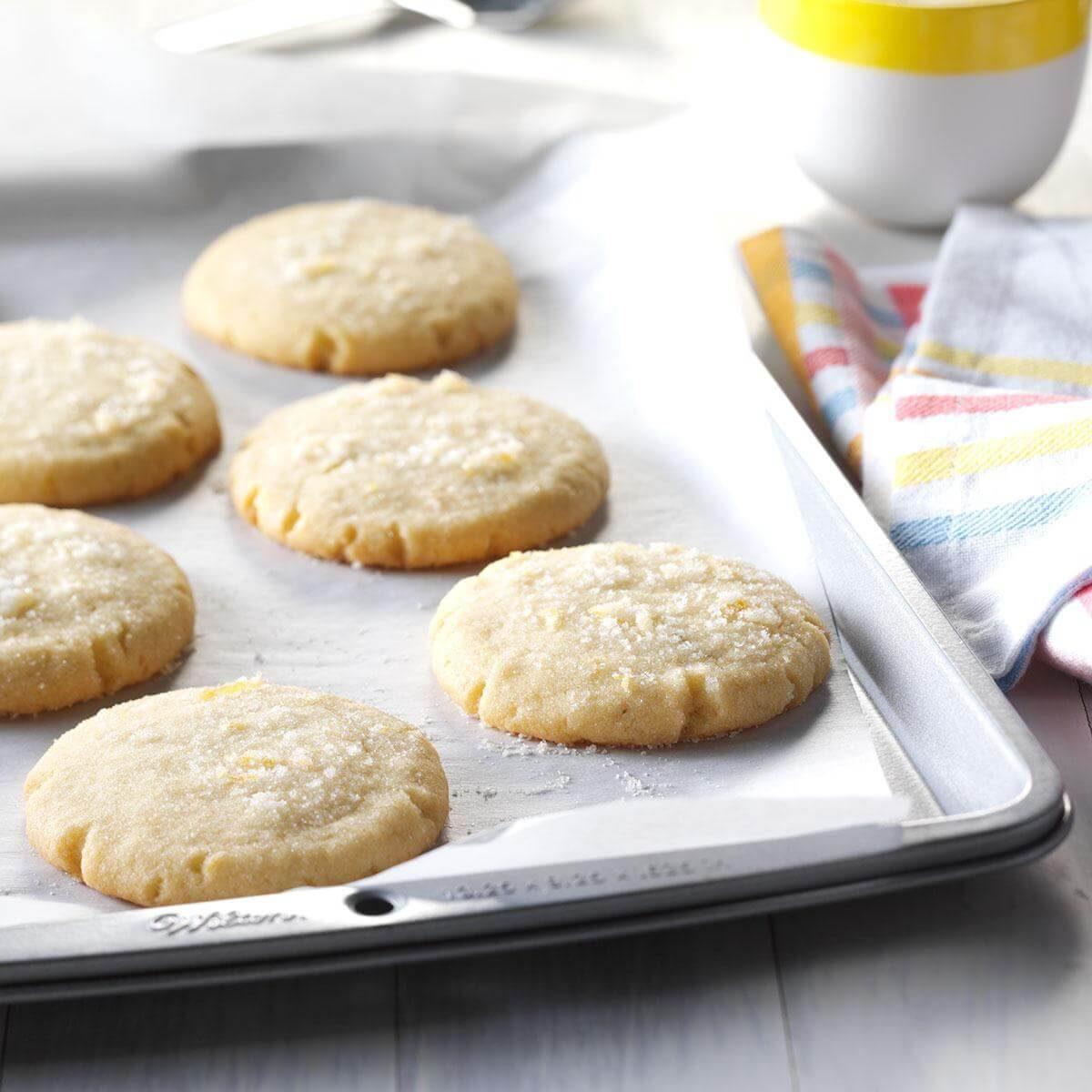 Lemon & Rosemary Butter Cookies Recipe | Taste of Home