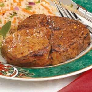 Grilled Peppered Ribeye Steaks