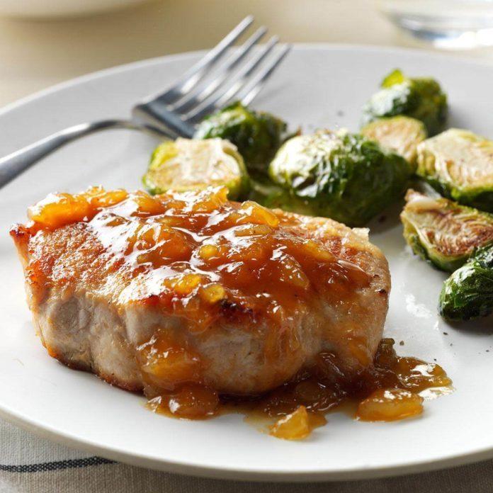 Pineapple-Dijon Pork Chops