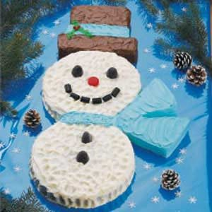 Marvelous Snowman Cake Recipe Taste Of Home Personalised Birthday Cards Veneteletsinfo