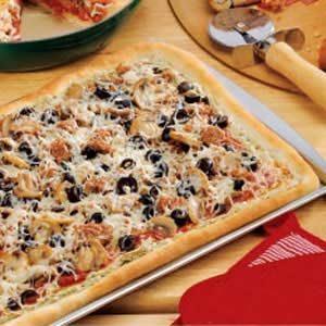 Pesto Sausage Pizza