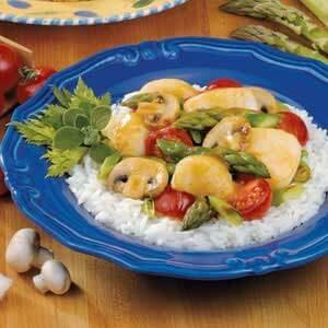 Scallops and Asparagus Stir-Fry