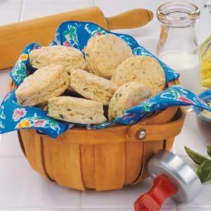 Parmesan Basil Biscuits