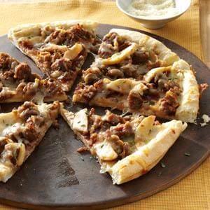 Sweet & Smoky Sausage Pizzas