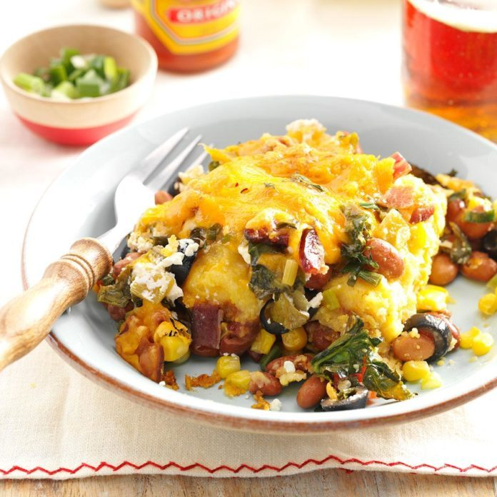 Fresh Spinach Tamale Pie
