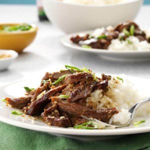Slow Cooker Garlic-Sesame Beef
