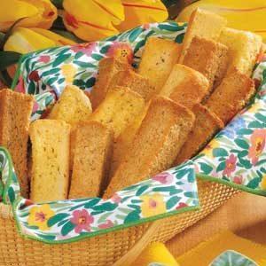 Crisp Cheese Breadsticks