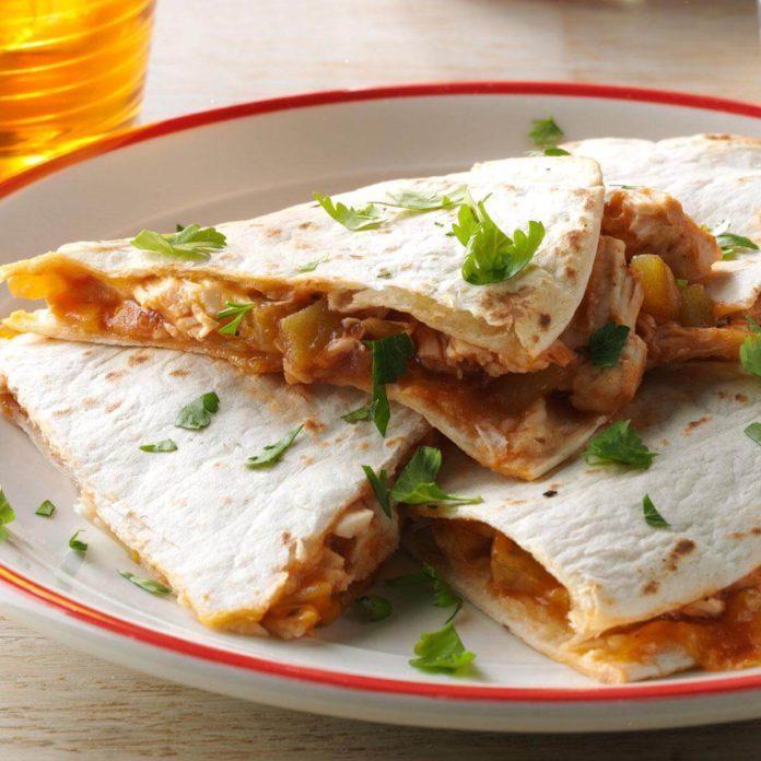 New York: Barbecue Chicken Quesadillas