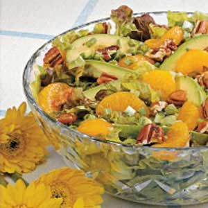 Avocado Mandarin Tossed Salad
