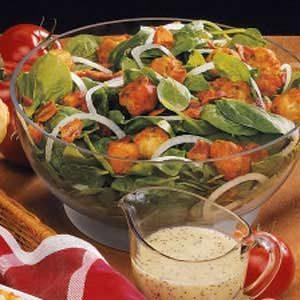 Vidalia Onion Spinach Salad