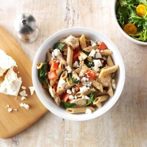 Spinach-Feta Chicken Penne
