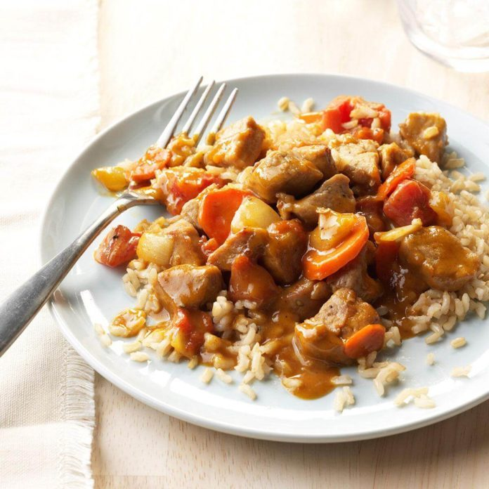 Peanut Butter Pork Curry