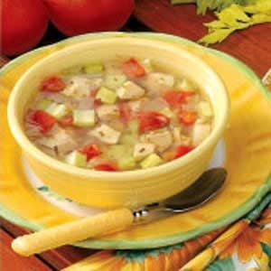 Chicken Vegetable Soup with Tomatoes
