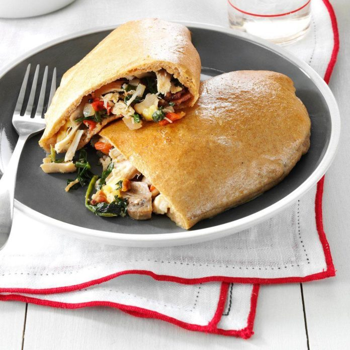 Loaded Chicken & Gouda Calzones