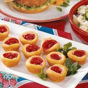 Easy Crescent Roll Cherry Tarts
