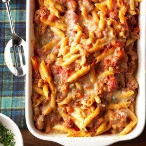 Day 1: Pasta Fagioli al Forno