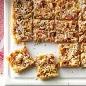 Rhubarb Dream Bars